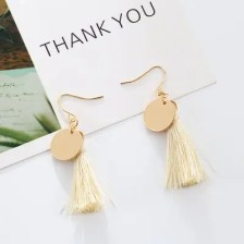 European Style Fashion Vintage Round Tassel Earrings