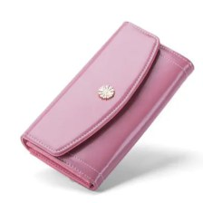 Solid Color Fashionable Ladies Long Purse