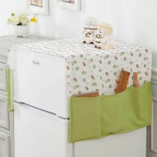Dust-Proof Refrigerator Cover with Storage Pocket