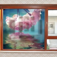 Fashion Removable Flowers Matte PVC Window Film Wall Sticker