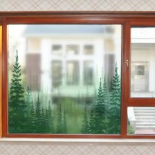 Green Plants PVC Window Film Wall Sticker Matte