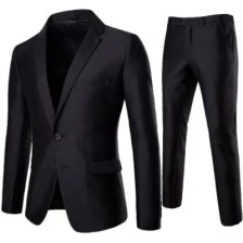 Man Western-Style Clothes Single Color Full Dress Suit