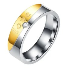 Couple Stainless Steel Rings Forever Love Ring Gold Silver Rings Jewelry