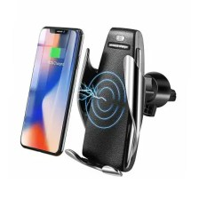 10W Wireless Automatic Clamping Fast Car Charger Mount Holder Stand