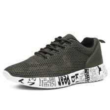 Men'S Breathable Sports Shoes with Wild Hollow Mesh Shoes