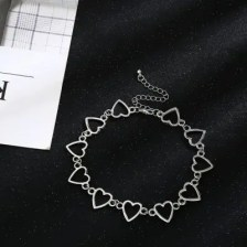 Street Beat Heart Simple Love Hollow Chain Personality Necklace