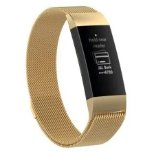 Metal Stainless Steel Milanese Loop Wristband Strap Band for Fitbit Charge 3