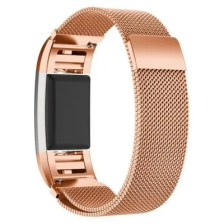 Metal Stainless Steel Milanese Loop Wristband Strap Band for Fitbit Charge 2