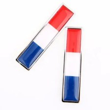5.7X1.4CM National Flag Metal Sticker Love-this-country Car Stickers 2PCS