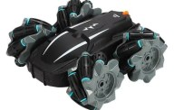 Childrens Remote Control Tumbling Stunt Car Double-sided 360° Rotating Charging