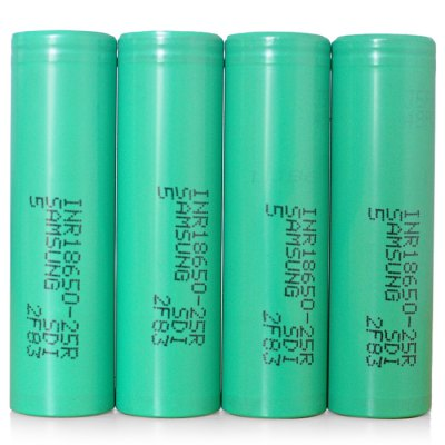 4x Samsung INR18650-25R 2500mAh 18650 Battery