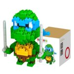 LOZ 210Pcs M - 9151 Teenage Mutant Ninja Turtles Leonardo Building Block Educational Assembling Boy Girl Gift for Spatial Thinking