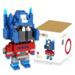 LOZ 170Pcs M - 9335 Mini Transformer Optimus Prime Figure Building Block Educational Toy for Spatial Thinking