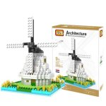 LOZ 260Pcs 9363 Netherland Windmill Building Block Educational Toy for Cooperative Ability - World Great Architecture Series