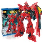 LOZ 814Pcs 9355 Gundam Figure Building Block Educational Toy for Improving Patience