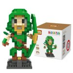 LOZ 340Pcs L - 9521 Arrow Action Figure Building Block Educational Toy for Brain Thinking