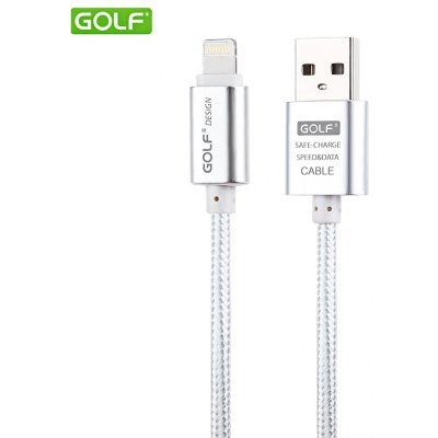 GOLF 3M 8 Pin Fast Charging Cable Nylon Braided Transfer