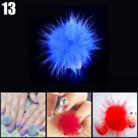 DIY Fox Fur Ball Nail Sticker Fingernails Tip Art Decors-1 ...