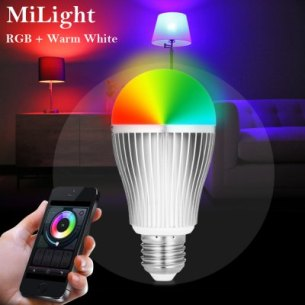 MiLight 2.4G sans fil E27 9W RGBW Bulb App Dimming Remote Control LED