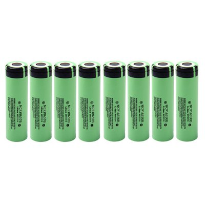 8x Panasonic NCR18650B 3400mAh Battery