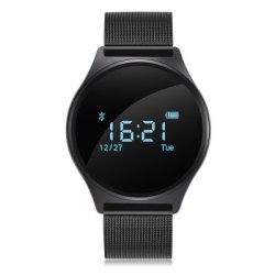 Gearbest M7 Smart Watch for Android iOS System Smartphones  -  BLACK