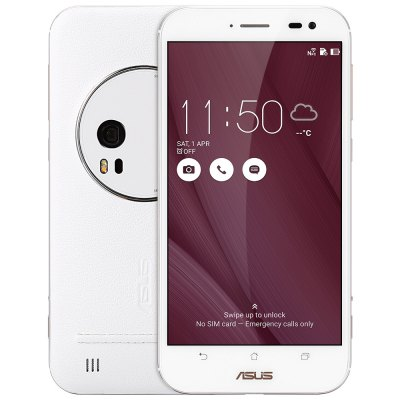 ASUS ZenFone Zoom ZX551ML 4GB RAM 64GB ROM 5.5 inch Android 5.0 Intel Atom Z3580 64bit Quad Core 2.3GHz 4GB RAM 64GB ROM 13.0MP + 5.0MP Cameras NFC Corning Gorilla Glass 4G Phablet