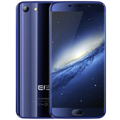 Elephone S7 4G Phablet - Helio X25 Deca Core 2.0GHz 4GB RAM 64GB ROM 5.5 inch FHD Screen Android 6.0 13.0MP + 5.0MP Cameras Fingerprint Sensor Compass BLUE