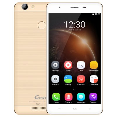 Gretel A6 Android 6.0 MTK6737 Quad Core 1.3GHz 2GB RAM 16GB ROM Fingerprint Sensor 13.0MP Rear Camera 4G Phablet