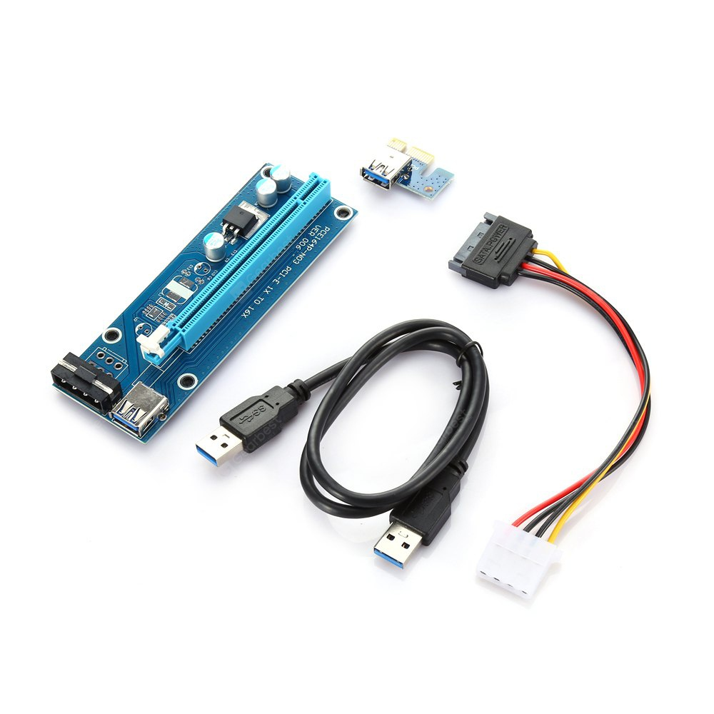 PCI - E 1X to16X Extender Riser Card Adapter with USB 3.0 Cable GOTD PCI-e Express 1X To 3 Port 1X Switch Multiplier HUB Riser Card +USB Cable 1PC GOTD PCI-e Express 1X To 3 Port 1X Switch Multiplier HUB Riser Card +USB Cable 1PC 20170621111931 75986