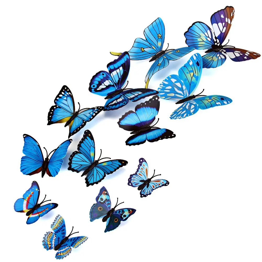38 Off 12pcs Pvc 3d Butterfly Wall Decor Cute Butterflies Wall Stickers Art Decals Home Decoration Random Pattern Rosegal