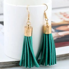 Green Velvet Sofa Couch San Juan Click Clack Reviews 2018 Faux Leather Tassel Earrings In ...