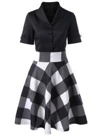 2018 Shawl Collar Button Up Top In Black 2xl | Rosegal.com