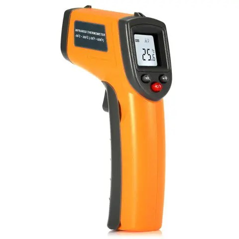 Hot GS320 LCD Display Digital IR Infrared Thermometer with Data Hold