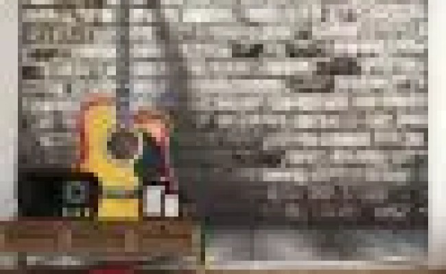 38 Off Guitar Brick Wall Hanging Microfiber Home