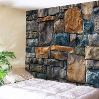 2018 Wall Hanging Art Decoration Stone Brick Wall Print ...