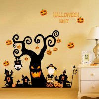 2018 Diy Cartoon Halloween Tree Shape Decoration Wall ...