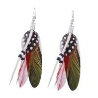 2018 Bohemian Beaded Feather Fish Hook Earrings In Black ...
