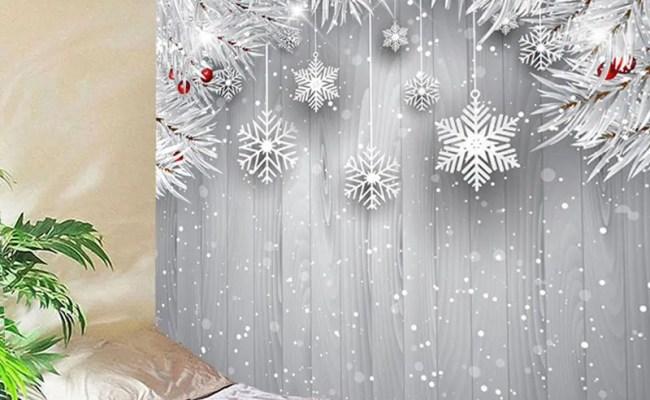 30 Off Wall Hanging Christmas Snowflake Printed