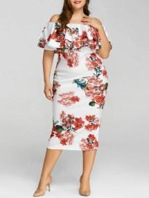 Plus Size Floral Print Dresses
