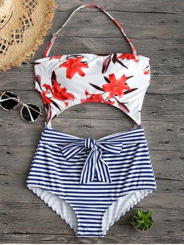 Risultati immagini per https://www.rosegal.com/one-pieces/floral-stripe-print-cut-out-halter-swimwear-1874629.html