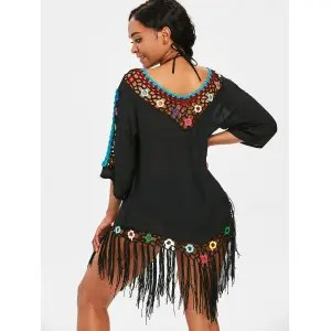 Risultati immagini per https://www.rosegal.com/cover-ups-kaftans/fringed-beach-crochet-panel-cover-up-dress-2199925.html