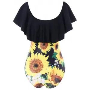 Risultati immagini per https://www.rosegal.com/one-pieces/low-cut-sunflower-one-piece-swimsuit-2243138.html