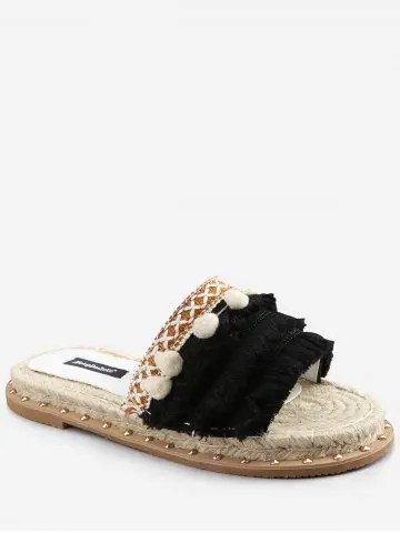 Risultati immagini per https://www.rosegal.com/slipper/studded-stitches-espadrille-pompom-fringes-slides-2261901.html
