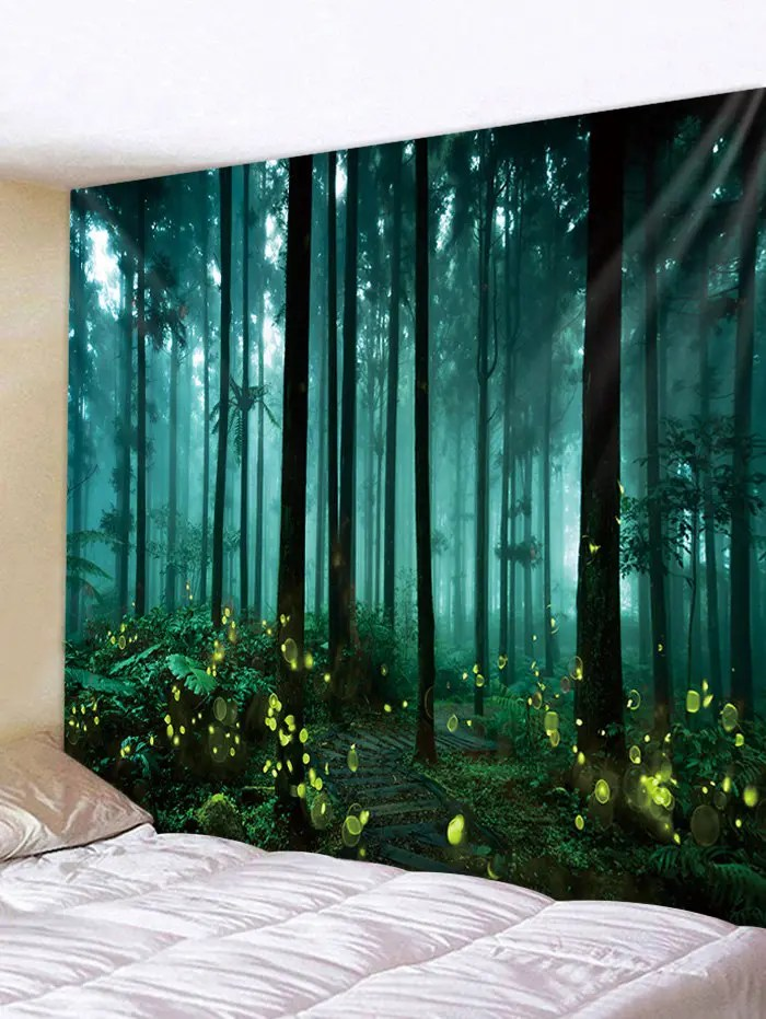 wall hanging art forest