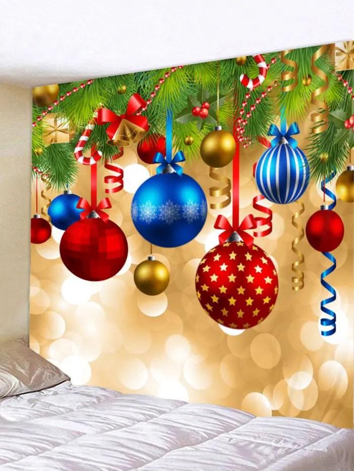 christmas ball print tapestry