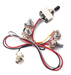 cheap 2v 2t wiring harness 3 way toggle switch 500k pots for guitar [ 1000 x 1000 Pixel ]