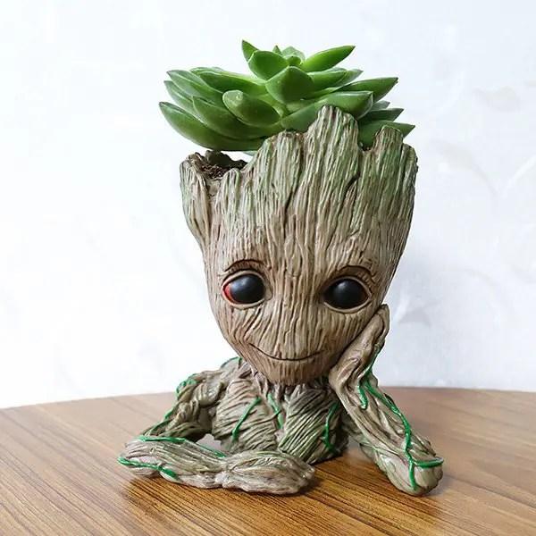2018 Creative Tree Man Flower Pot Doll Model Desk Ornament