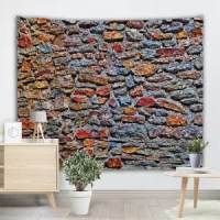 Colormix W71 Inch * L91 Inch Colorful Stone Wall Print ...