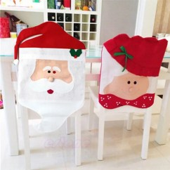 Chair Cover Christmas Decorations Casters For Hardwood Floors 2019 2pcs Santa Claus Covers Table Online