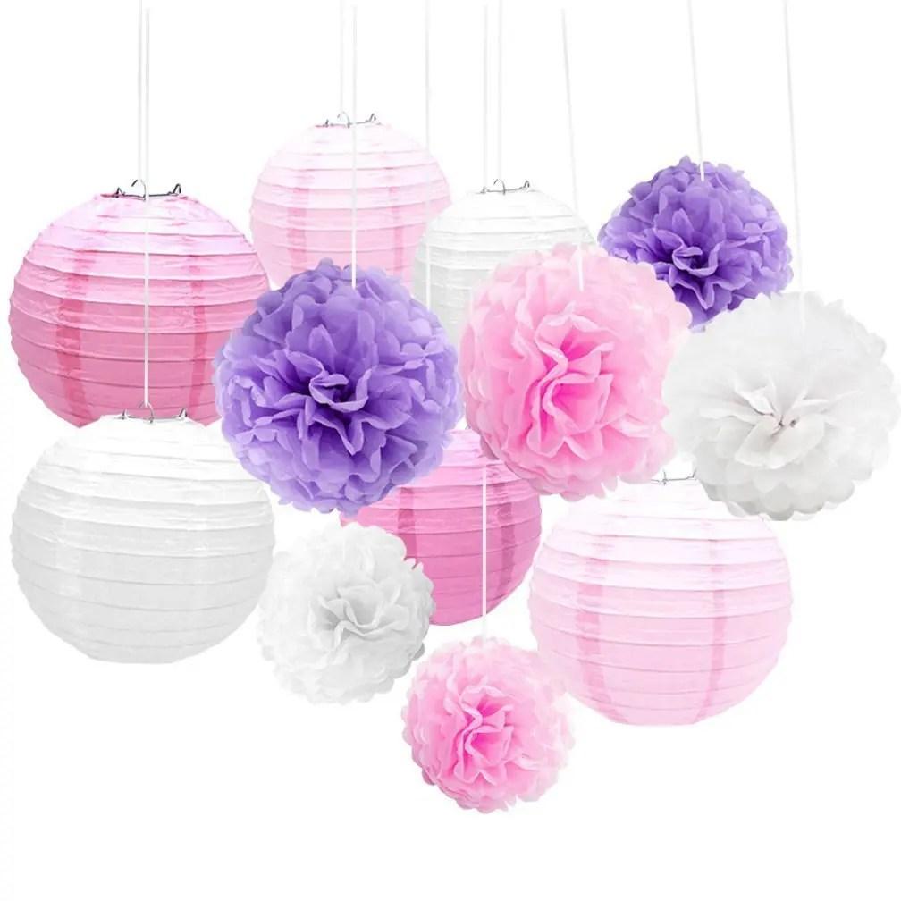 2019 Eastern Hope Tissue Paper Pom Pom Flower Purple And